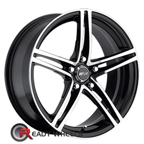 MSR 048 Machined Black 5-Spoke Split 18 5x114 + Delinte D7 225/40/18