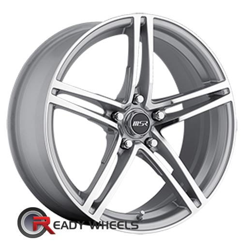MSR 048 Silver 5-Spoke Split 18 5x114 + Delinte D7 225/40/18