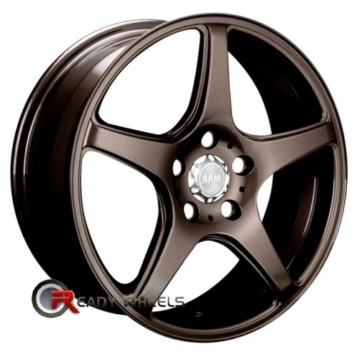 RPM R-502 Bronze 5-Spoke 17x7 - 4x100 Wheels - Rims + Sunny SN380 205/40/17