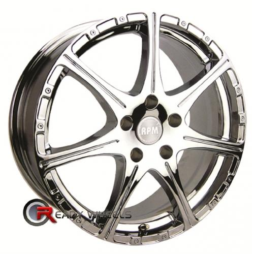RPM R-503 Chrome 7-Spoke 18x8.5 - 5x114 Wheels - Rims + Delinte D7 225/40/18
