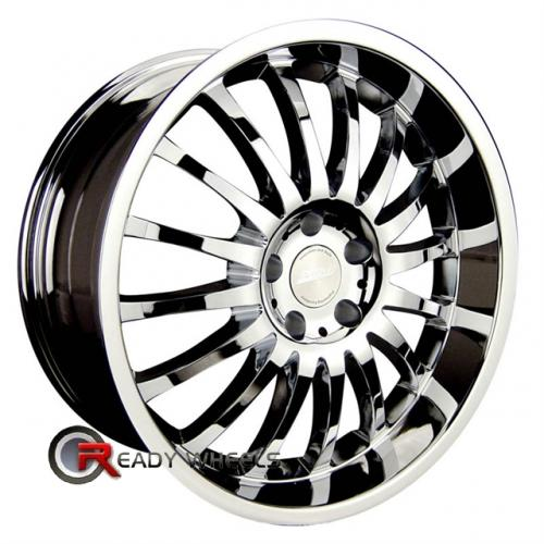RPM R-507 Chrome Multi-Spoke 18x8 - 5x112 Wheels - Rims + Delinte D7 225/40/18