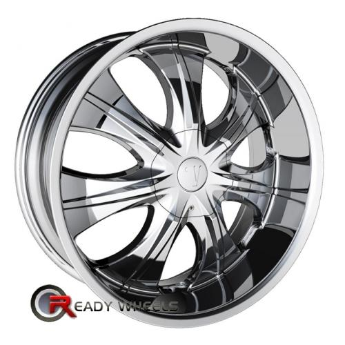 VELOCITY V750 Chrome 7-Spoke 18 4x114 + Delinte D7 225/40/18