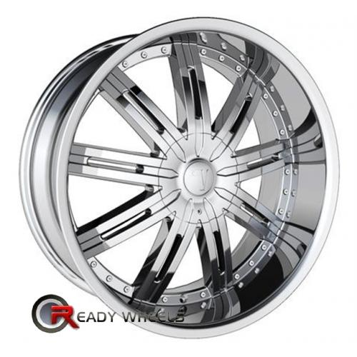 VELOCITY V800 Chrome 9-Spoke 18 5x114 + Delinte D7 225/40/18