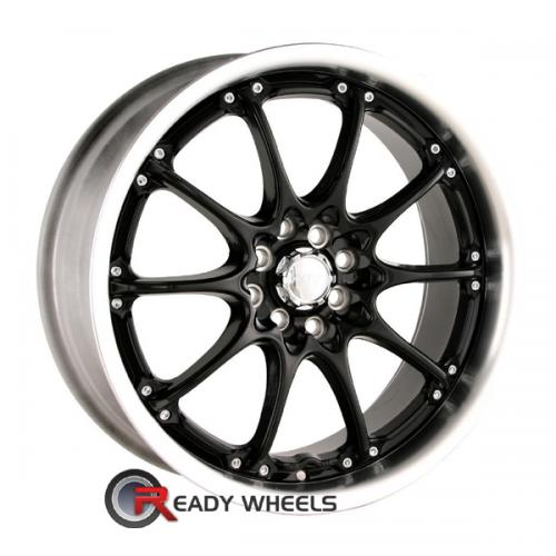 AKITA AK 5 Black Gloss Multi-Spoke 40 18 4x100 + Delinte D7 225/40/18