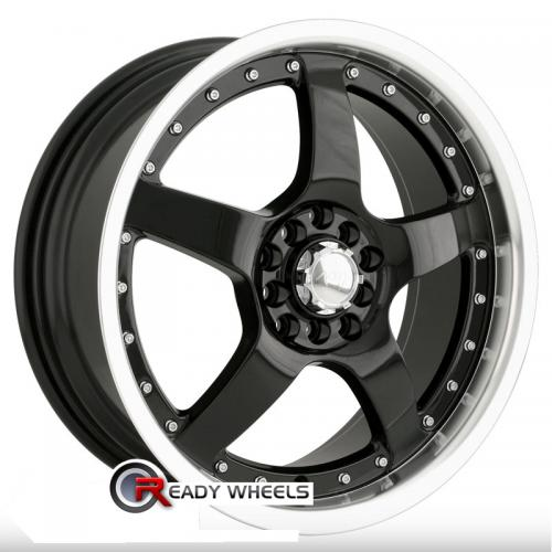 AKITA AK 8 Black Gloss 5-Spoke 40 18 4x100 + Delinte D7 225/40/18