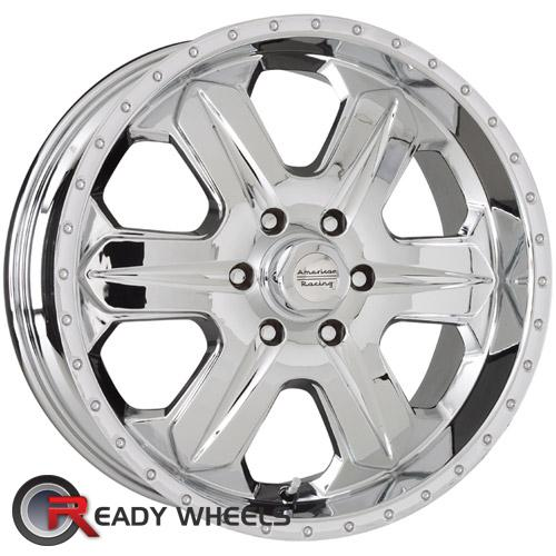 AMERICAN RACING Fuel Chrome 6-Spoke 30 18 5x120 + Delinte D7 225/40/18
