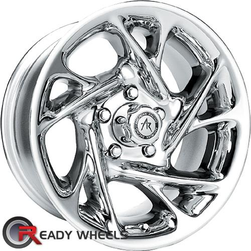 AMERICAN RACING Nitro Chrome 5-Spoke -19 15 5x114 + Nankang N605 195/50/15 ALL-SEASON