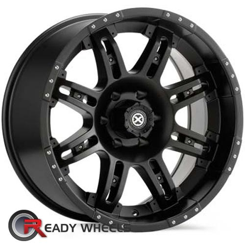 ATX OFF-ROAD Thug Black Flat 8-Spoke -12 18 5x127 + Delinte D7 225/40/18
