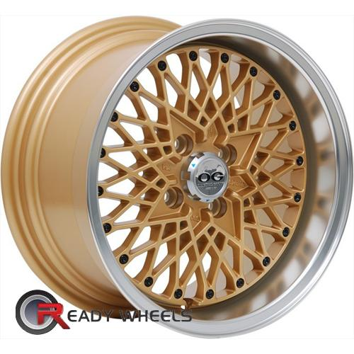 Axis OG-San Gold Mesh / Web 15 4x100 + Nankang N605 195/50/15 ALL-SEASON