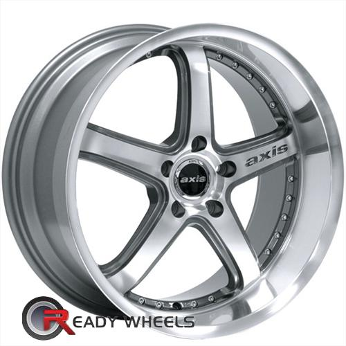 Axis Shine Gunmetal Machine Face Polished Lip 5-Spoke 19 5x100