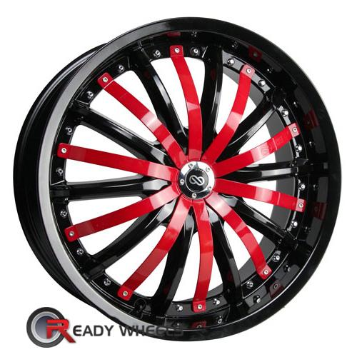 ENKEI Lf-10 Chrome w/ Red Cap Multi-Spoke 42 18 5x100