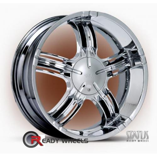 STATUS Juvie  Chrome 5-Spoke Split 35 22 blank + Achilles Desert Hawk 265/35/22