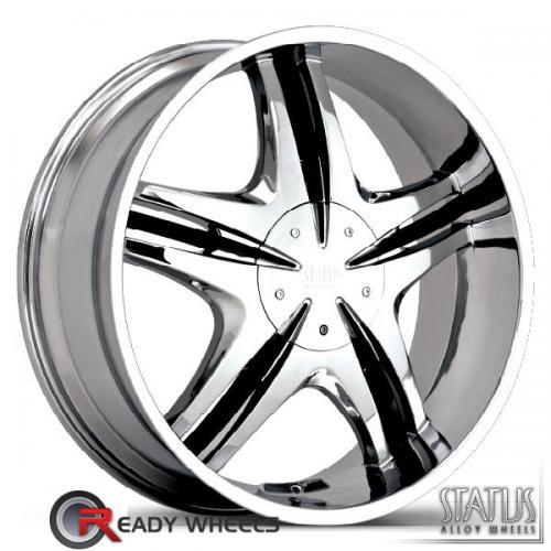 STATUS Vice Chrome w/ Black Cap 5-Spoke Split 30 20 blank