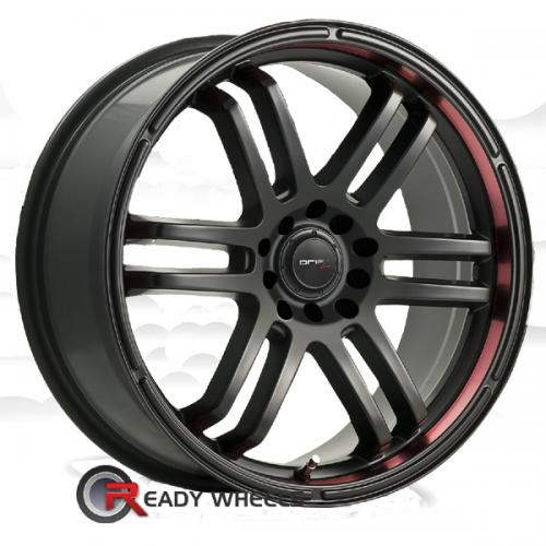 DRIFZ FX (207) Black Flat 6-Spoke Split 35 18 4x100 + Delinte D7 225/40/18