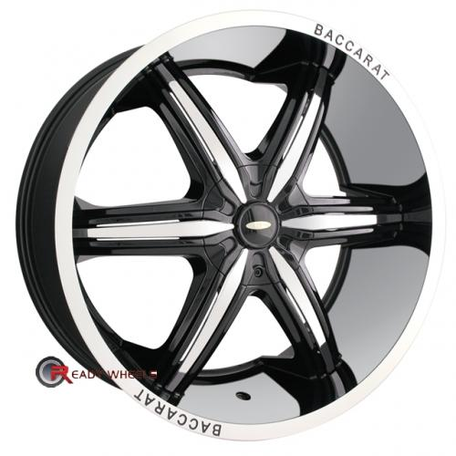BACCARAT OUTRAGE 2160  Gloss Black 6-Spoke 22 5x115