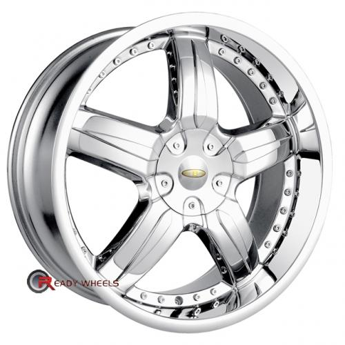 BACCARAT SYNC 1140  Chrome 5-Spoke 18 4x100 + Delinte D7 225/40/18