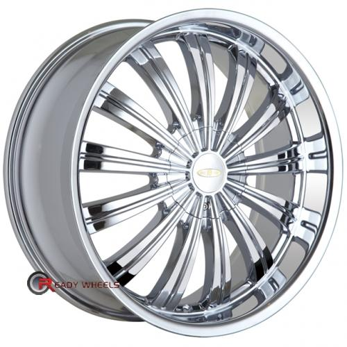 BACCARAT TABOO 1160  Chrome Multi-Spoke 17 4x100