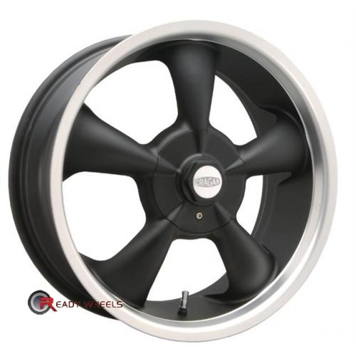 CRAGAR 600B -SS FWD Flat Black 5-Spoke 17 4x100