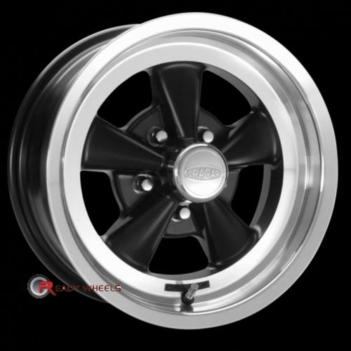 CRAGAR 610B - SS Gloss Black 5-Spoke 15 5x114