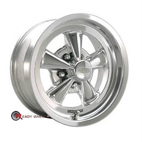 CRAGAR 610P - SS Polished 5-Spoke 15 5x114