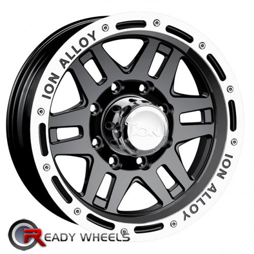 ION 133 Black Gloss 6-Spoke Split 16 5x114 + Nankang NS-1 205/45/16 ALL-SEASON
