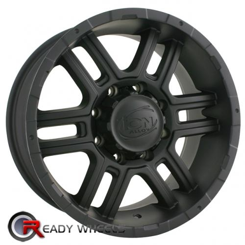 ION 179 Flat Black 6-Spoke 18 5x127 + Delinte D7 225/40/18
