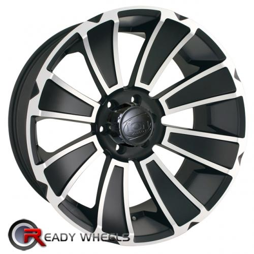 ION 180 Flat Black 8-Spoke 18 5x127 + Delinte D7 225/40/18