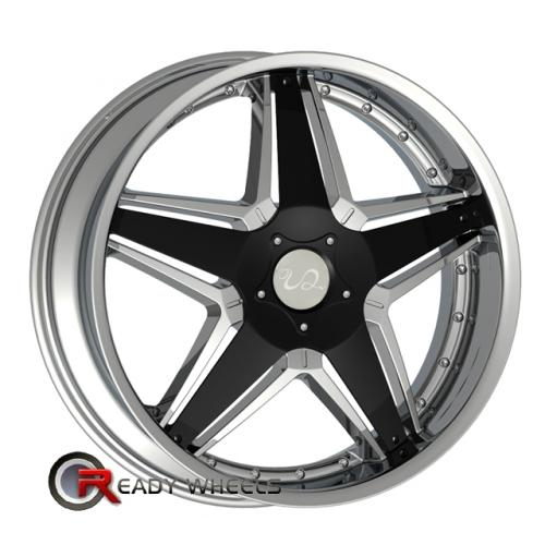U2 145 Chrome w/ Black 5-Spoke 24 6x114 + Nexen Roadian HP 305/35/24 ALL-SEASON