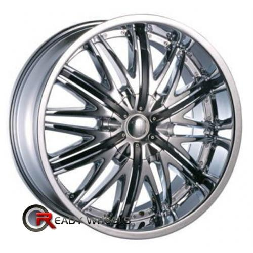VELOCITY V830 Chrome w/ Black Cap Multi-Spoke 20 5x114