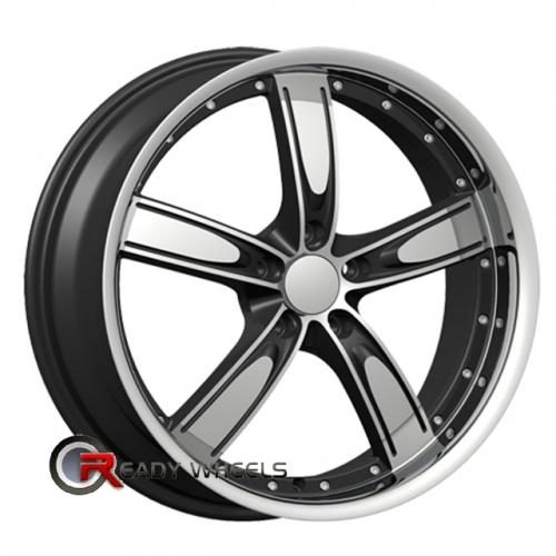 VELOCITY V850-A Machined w/ Black 5-Spoke 22 5x127