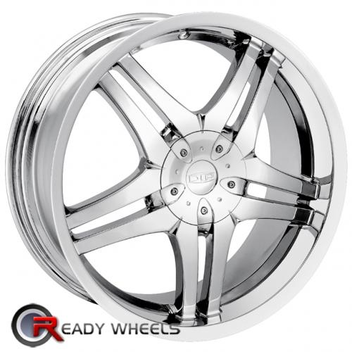 DIP GUNNER D88  Machined w/Black 7-Spoke 20x8.5 - 6x135 Wheels - Rims + Delinte D7 245/35/20