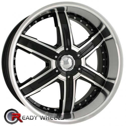 DIP LASER D95  Black Gloss 5-Spoke 18x7.5 - 5x112 Wheels - Rims + Delinte D7 225/40/18
