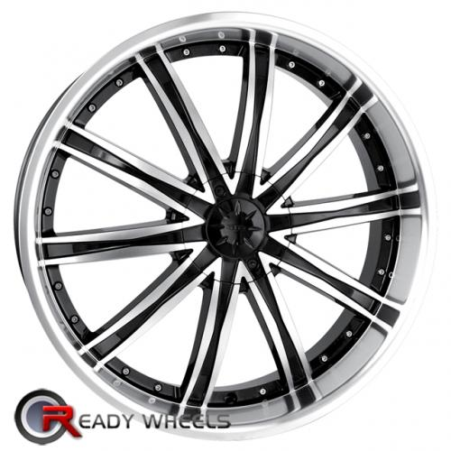 DIP LIBRA D15  Chrome 7-Spoke 20x8.5 - 6x114 Wheels - Rims + Delinte D7 245/35/20