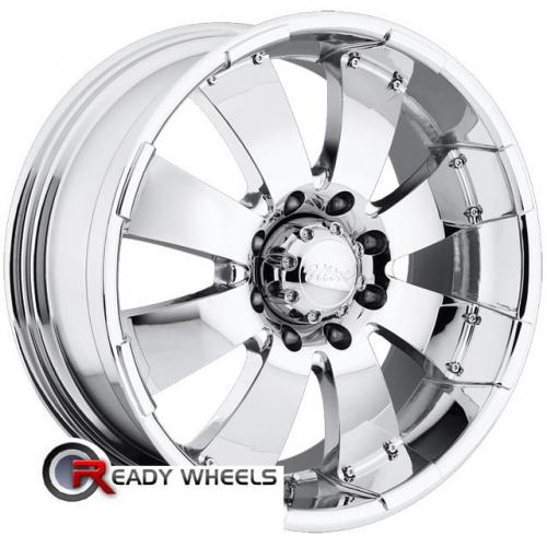 ULTRA Mako (243/244) (8-Lug) Chrome 8-Spoke 12 18 8x165 + Delinte D7 225/40/18