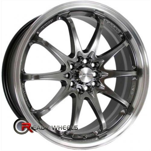 MAZZI SPHINX 310  Chrome 5-Spoke 15x7 - 4x100 Wheels - Rims + Nankang N605 195/50/15 ALL-SEASON