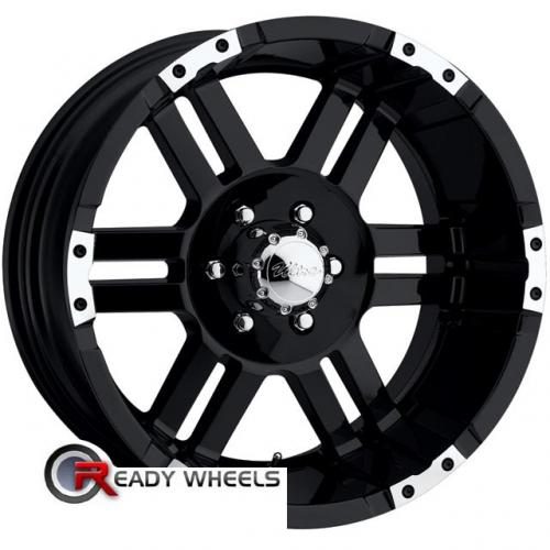 ULTRA Thunder (247/248) Machined w/ Black 6-Spoke 12 18 5x127 + Delinte D7 225/40/18