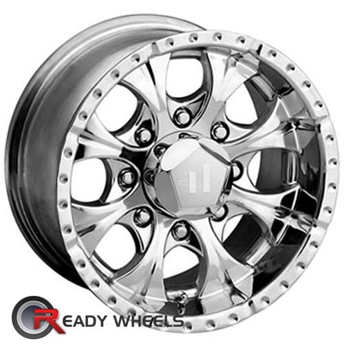 HELO He791 (8 Lugs) Chrome 6-Spoke 16 6x139 + Nankang NS-1 205/45/16 ALL-SEASON