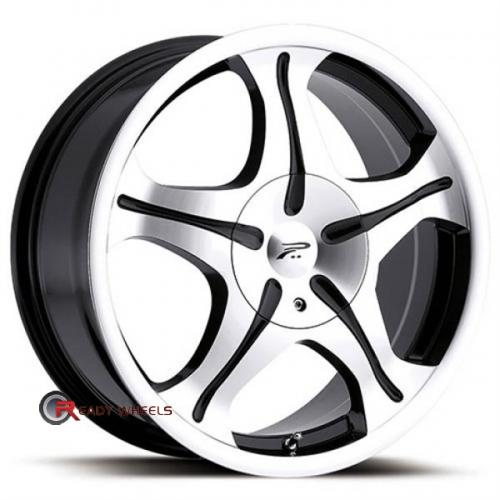 PLATINUM 093 Gem FWD Machined 5-Spoke 17x7.5 - 4x100 Wheels - Rims + Sunny SN380 205/40/17