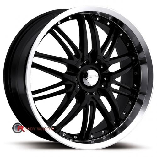 PLATINUM 200 - Apex FWD Gloss Black Multi-Spoke 16x7 - 4x100 Wheels - Rims