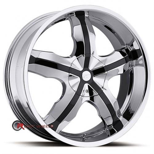 PLATINUM 212 - Widow FWD Chrome 5-Spoke 17x7.5 - 5x100 Wheels - Rims