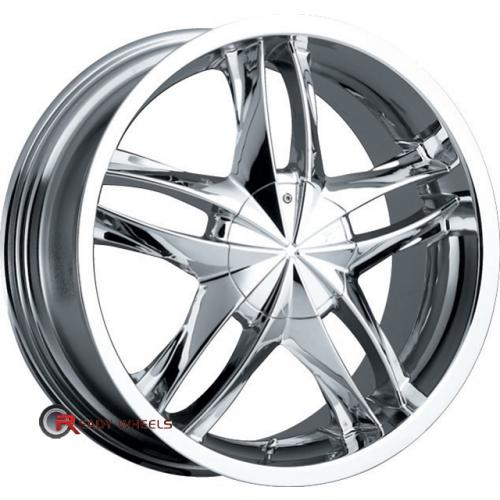 PLATINUM 256 - Twin Twist Chrome 5-Spoke Split 16x7.5 - 4x100 Wheels - Rims + Nankang NS-1 205/45/16 ALL-SEASON