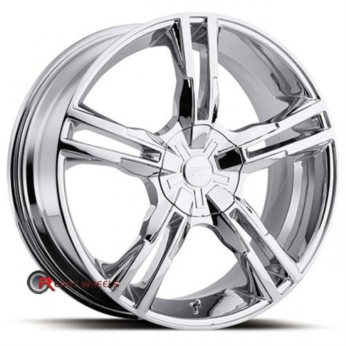 PLATINUM 292 - Saber FWD/RWD Chrome 5-Spoke Split 16x7 - 4x100 Wheels - Rims