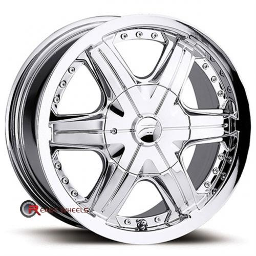 PLATINUM 297 - Flair FWD Chrome 6-Spoke 14x6 - 4x100 Wheels - Rims