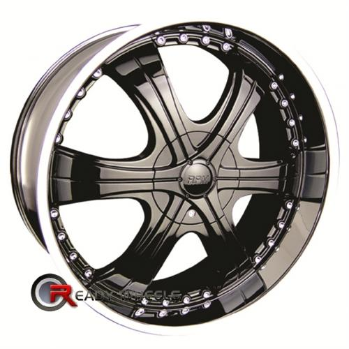 RPM M-511 Black Chrome 6-Spoke 18x8 - 5x114 Wheels - Rims