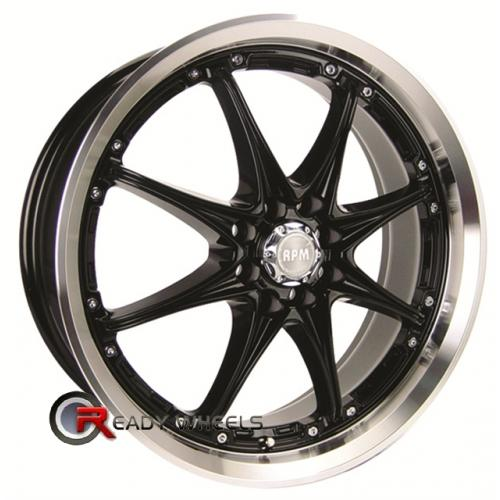 RPM R-501 Gloss Black 8-Spoke 17x7 - 4x100 Wheels - Rims + Sunny SN380 205/40/17