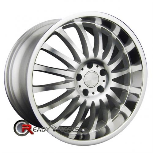 RPM R-507 Gloss Silver Multi-Spoke 18x8 - 5x112 Wheels - Rims + Delinte D7 225/40/18