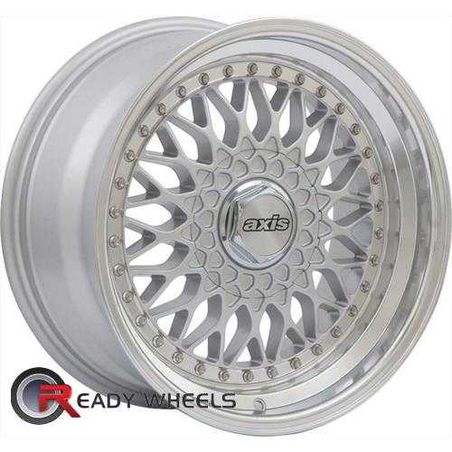 Axis Klassic Silver Machine Lip Multi-Spoke 17 4x100