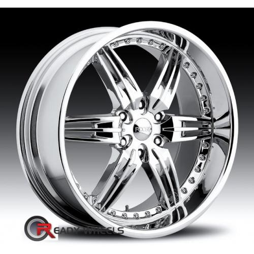 FOOSE DF-6 Chrome 6-Spoke 28 22 6x135 + Achilles Desert Hawk 265/35/22