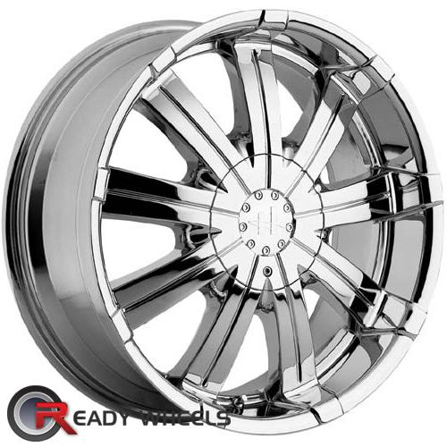 HELO He828 Chrome Multi-Spoke 30 18 6x114 + Delinte D7 225/40/18