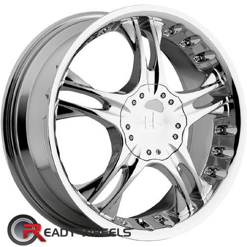 HELO He829 Chrome 5-Spoke 42 17 4x100 + Sunny SN380 205/40/17